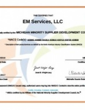 2017 eMS MMSDC Certification